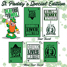 St Patrick's Day Funny Golf Towels