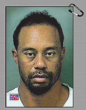 Tiger Woods DUI Mugshot Golf Towel