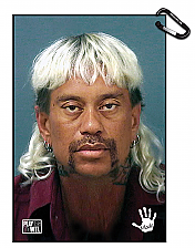 Tiger Woods Tiger King Mugshot Golf Towel