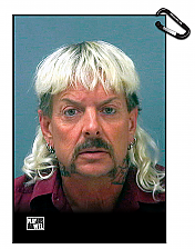 Tiger King Joe Exotic MugShot Golf Towel